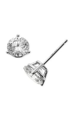 Diamond Stud Earrings by Bony Levy in Scream Queens
