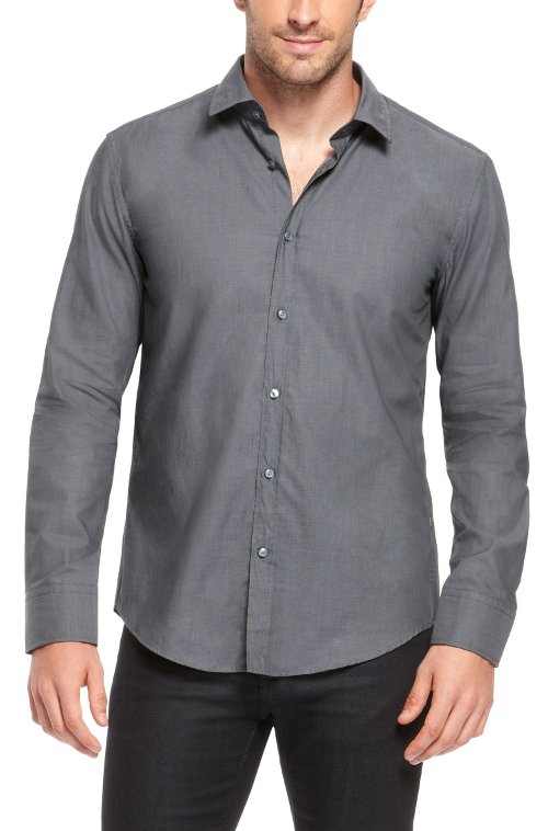 Slim Fit Cotton Button Down Shirt by Hugo Boss Hugo in The Best of Me