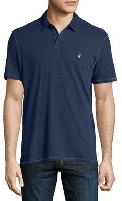 Short-Sleeve Peace Polo Shirt by John Varvatos in Jason Bourne