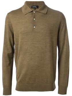 Polo Collar Sweater by A.P.C. in Laggies