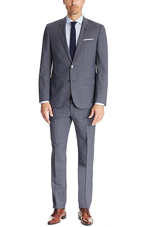Hutson/Gander Slim Fit Italian Virgin Wool Suit by Hugo Boss  in House of Cards - Season 4 Episode 8
