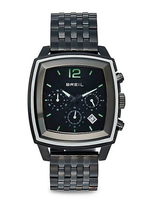 Square Stainless Steel Chronograph Dial Watch by Breil in Ballers - Season 1 Episode 3