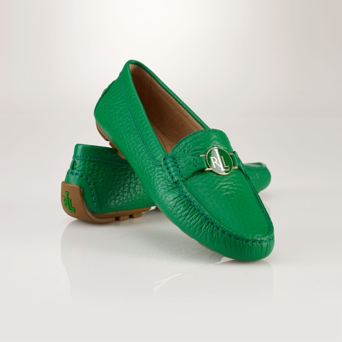 Leather Carley Loafer Shoes by Ralph Lauren in Begin Again