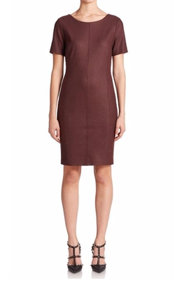 Short-Sleeve Wool-Blend Dress by Set in How To Get Away With Murder