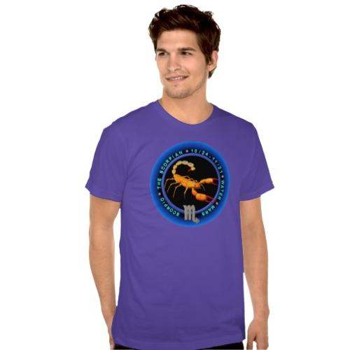 Valxart Scorpio Zodiac Logo Shirts by Zazzle Apparel in Laggies