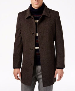 Bloom Heathered Overcoat by Tommy Hilfiger in Quantico