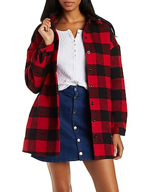 Button-Up Fleece Jacket by Charlotte Russe in Now You See Me 2