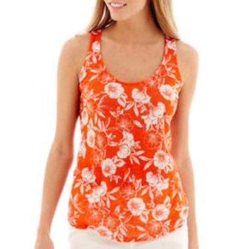 Racerback Linen Floral Tank Top by Stylus in Jane the Virgin - Season 2 Looks