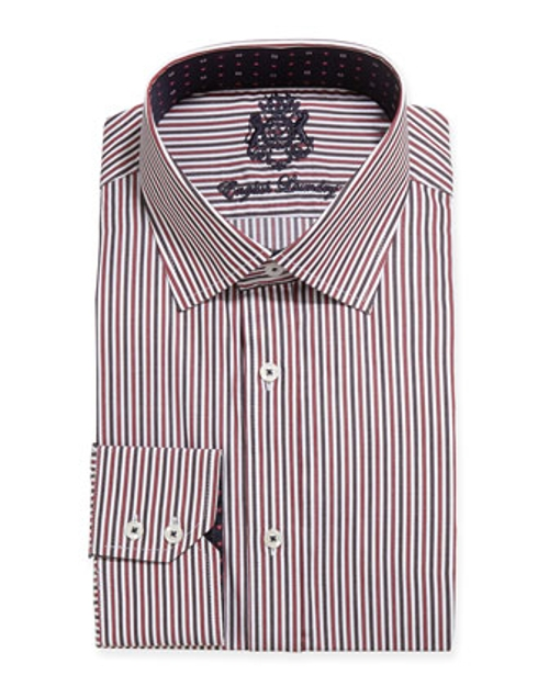 Multi Stripe Woven Dress Shirt by English Laundry in Absolutely Anything
