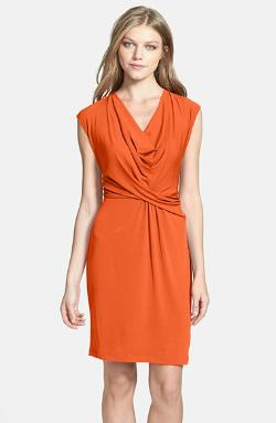 Cowl Neck Matte Jersey Dress by Donna Ricco in Savages