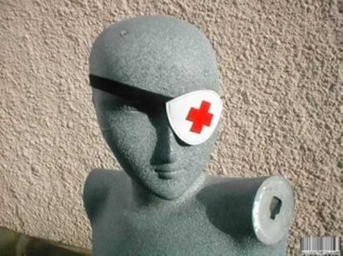 Eyepatch Nurse Cross MK3 by Allycat Metalware in Kill Bill: Vol. 1