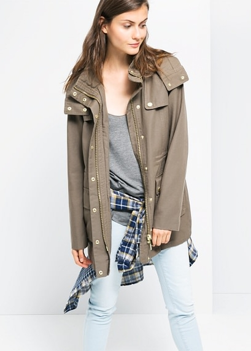 Military-Style Soft Parka by Mango Outlet in Pretty Little Liars - Season 6 Episode 7