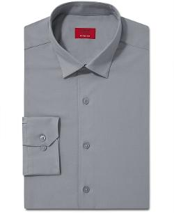 Slim-Fit Solid Dress Shirt by Alfani Spectrum in Addicted