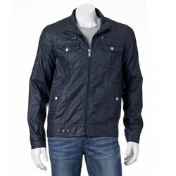 Slim Faux-Leather Motorcycle Jacket by XRay in The Big Bang Theory