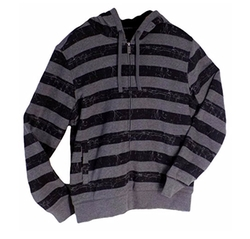 Stripe Zipper Up Heavy Hoodie by O'Neill in The Purge: Anarchy