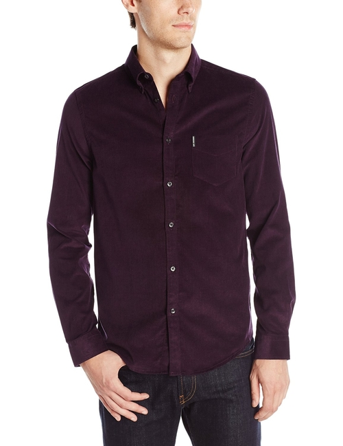 Men's Long Sleeve Plain Cord Woven Shirt by Ben Sherman in Quantico - Season 1 Episode 9