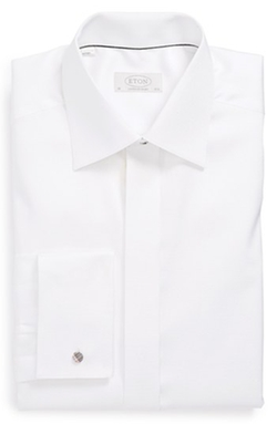 Contemporary Fit French Cuff Tuxedo Shirt by Eton in Suits