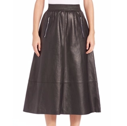 Leather A-Line Skirt by Alexander Wang in Chelsea