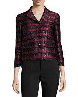 Cherry-Print Button-Front Jacket by Red Valentino in The Good Wife