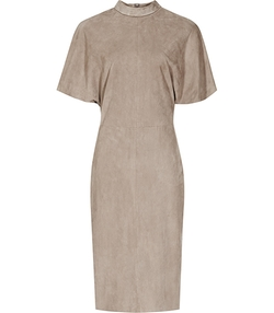 High-Neck Suede Dress by Margeaux in Mistresses