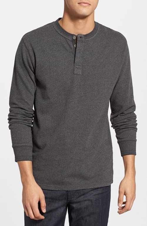 Long Sleeve Herringbone Henley Shirt by Levi's in If I Stay