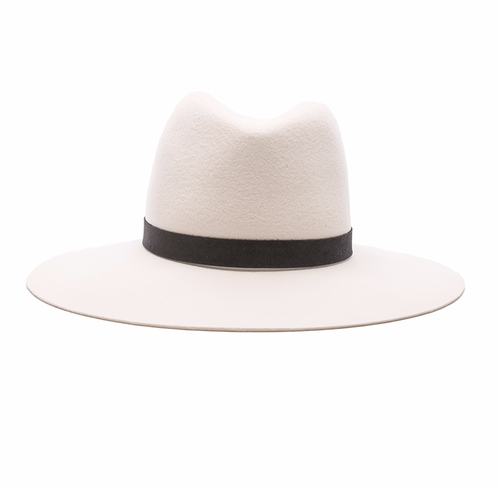 Camellia Wide Brimmed Classic Fedora by Janessa Leone in Keeping Up With The Kardashians - Season 12 Episode 16