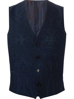 Floral Paisley Print Waistcoat by Etro in Ashby