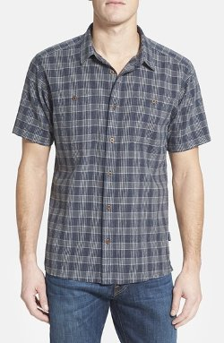 'Back Step' Check Short Sleeve Sport Shirt by Patagonia in While We're Young