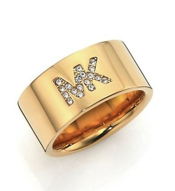 Fulton Logo Pavé Band Ring by Michael Kors in She's Funny That Way