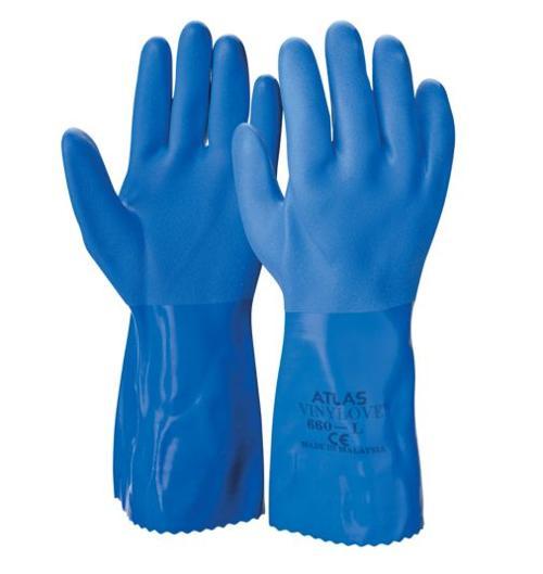 PVC Triple-Dipped Gloves by Atlas in Man of Steel