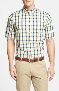 Smartcare Wrinkle Free Regular Fit Check Sport Shirt by Nordstrom in Jersey Boys
