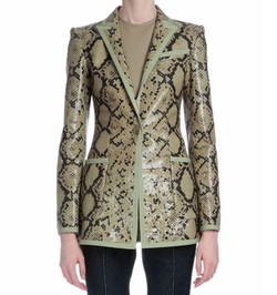 Snake-Embossed Leather Jacket by Givenchy in Empire