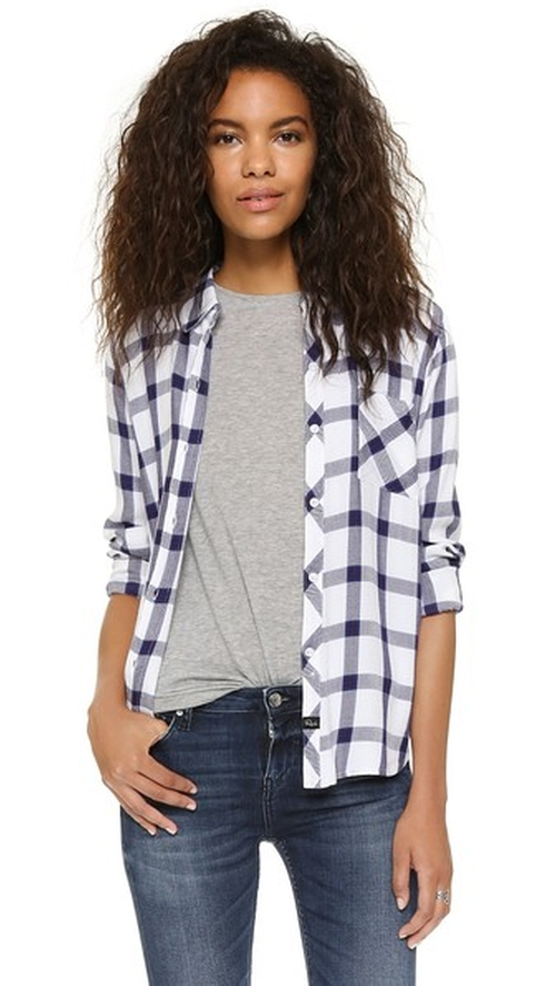 Hunter Button Down Shirt by Rails in Keeping Up With The Kardashians - Season 11 Episode 12