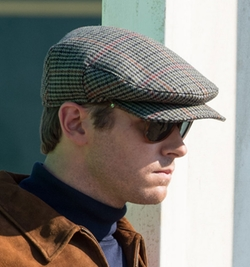 Custom Made W. Bill Wool Houndstooth Ivy Cap by Joanna Johnston (Costume Designer) in The Man from U.N.C.L.E.