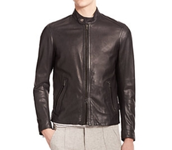Leather Moto Jacket by Vince in Lethal Weapon