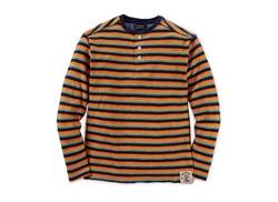 Striped Henley Shirt by Ralph Lauren in Demolition