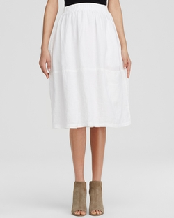 Linen Midi Skirt by Eileen Fisher in The Women