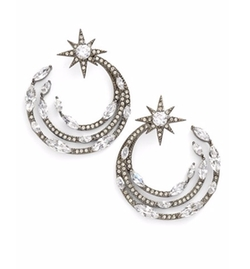 'Starry Night' Hoop Earrings by Nadri in Fuller House