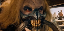 Custom Made Skull Respirator Mask (Immortan Joe) by Jenny Beavan (Costume Designer) in Mad Max: Fury Road