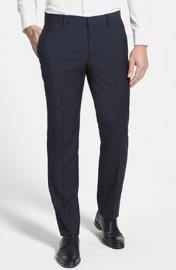 'Genesis' Flat Front Trousers by Boss in Our Brand Is Crisis