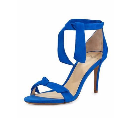 Patty Suede Bow-Tie d'Orsay Sandals by Alexandre Birman in Mistresses