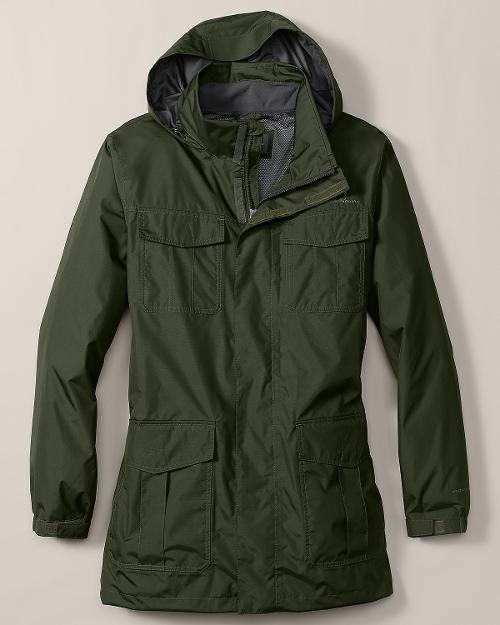 Mens Rainfoil Parka Jacket by Eddie Bauer in Mortdecai