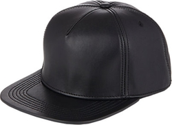 Leather Postback Hat by Buscemi in Empire