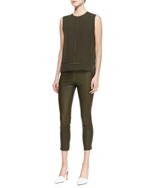 Rayon/Silk Layered Top by Vince in What If
