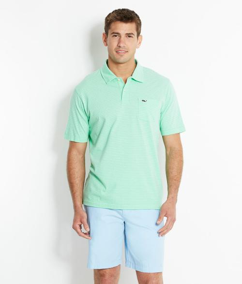 Hawker Stripe Jersey Polo Shirt by Vineyard Vines in Dolphin Tale 2