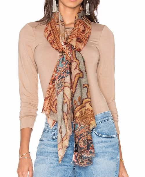 Antique Scarf by Tolani in Free Fire