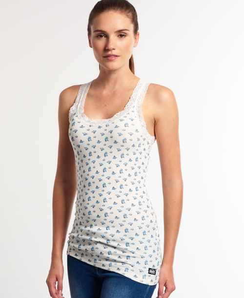 Lace Printed Vest Top by Superdry in Nashville - Season 4 Episode 7
