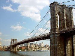 New York City, New York by Brooklyn Bridge in Need for Speed