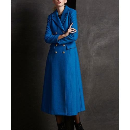 Extra Long Blue Wool Coat by Robe Plus in Frank Miller's Sin City: A Dame To Kill For