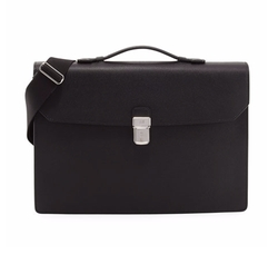 Cadogan Leather Flap Briefcase by Dunhill in Power